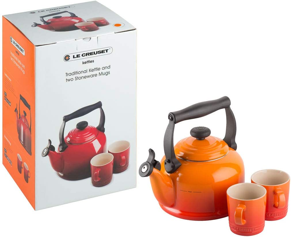 Le Creuset Traditional Kettle 2.1 Litre Volcanic Orange