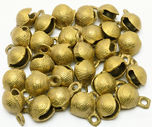 "Lot 30 Pcs 1.1""Ht Horse Camel Sheep Brass Bells Vintage Indian Craft Decor Gift"