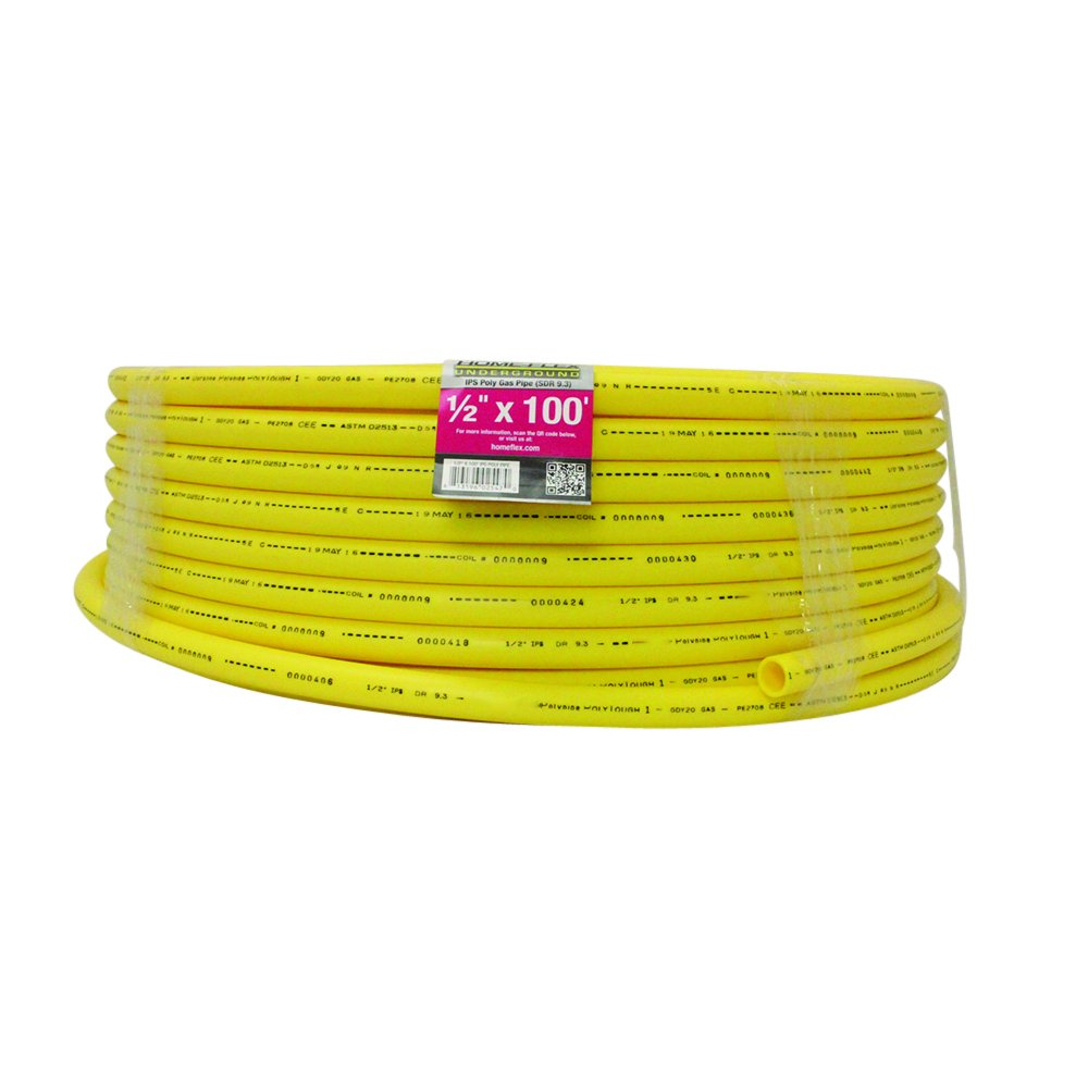Underground IPS Yellow Poly Gas Pipe (1/2, 100) by HOME-FLEX
