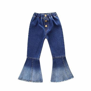 Amazon.com: FTXJ Kids Girls Fashion Flare Jeans Slim Fit ...