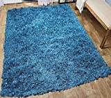 Glitter Shag Shaggy Furry Fluffy Fuzzy Sparkle Soft Modern Contemporary Thick Plush Soft Pile Turquoise Blue Two Tone Area Rug Carpet Bedroom Living Room 8×10 Sale Discount ( Treasure Turquoise ) Review