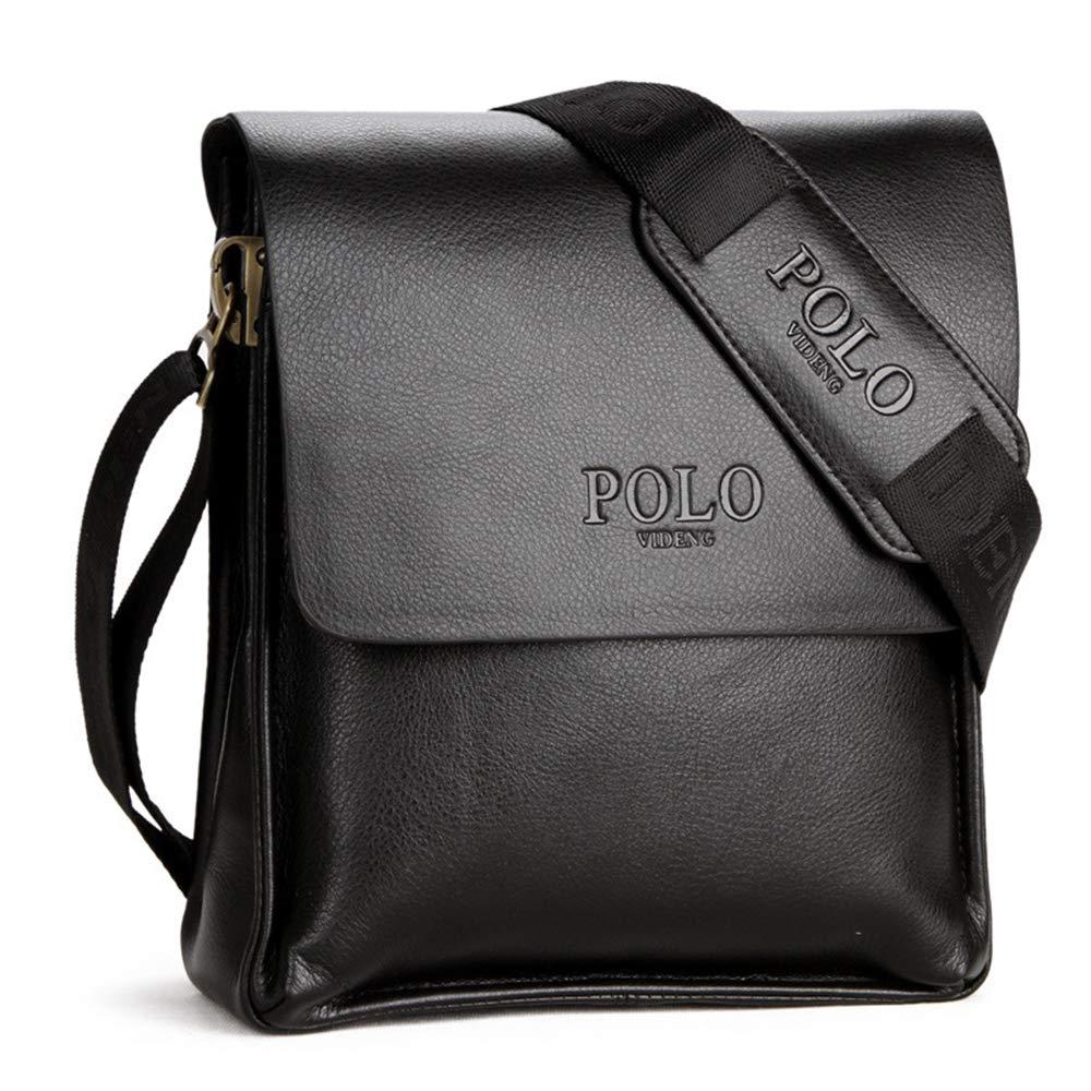 Small Bag Mens Shoulder Bag Briefcase Casual Bag Mens Retro Messenger Bag Small Bag Dark Brown Black,brownsmall WMG/&BB Leather Leather Shoulder Messenger Bag