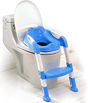 Babies Potty Training Chair Seat Toddler Children Infant Baby Kid Pink Blue
