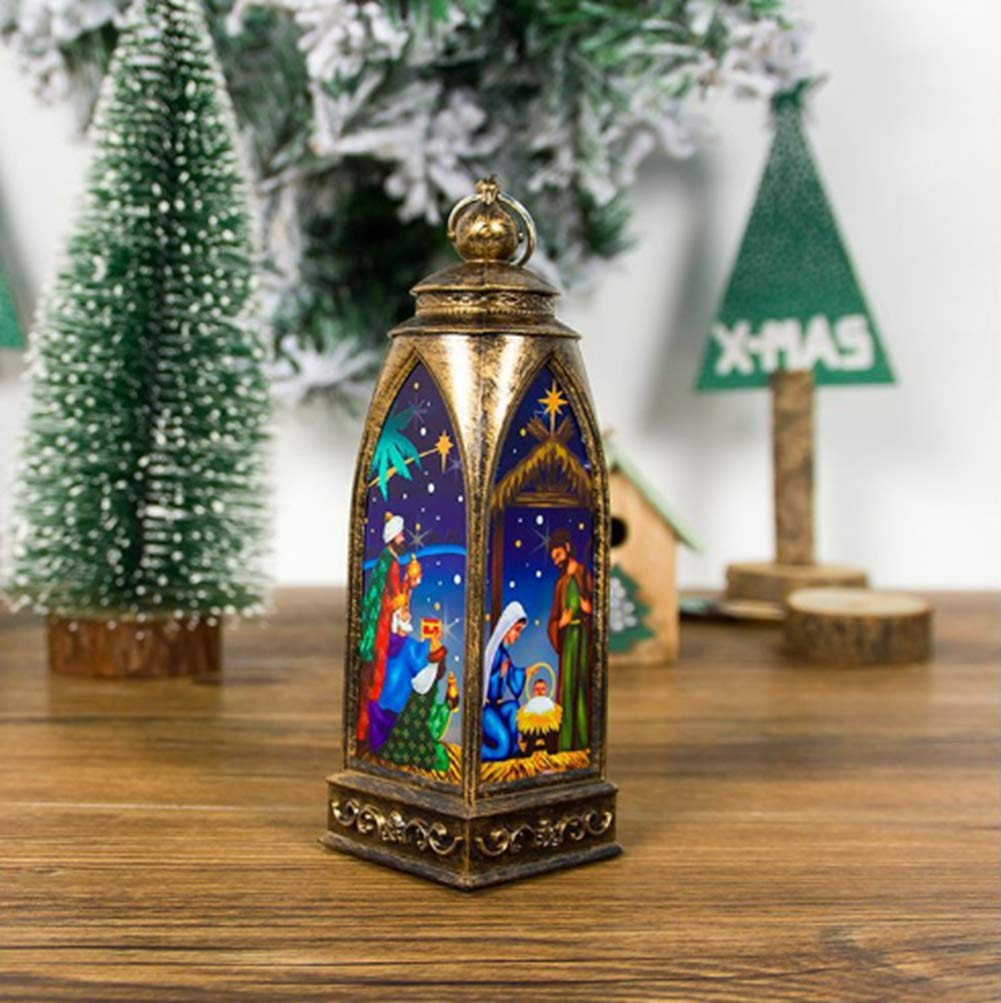 A DadaAA Candle Holders Christmas Decoration,Indoor or Outdoor Tealight Hanging Lantern or Tabletop or Party