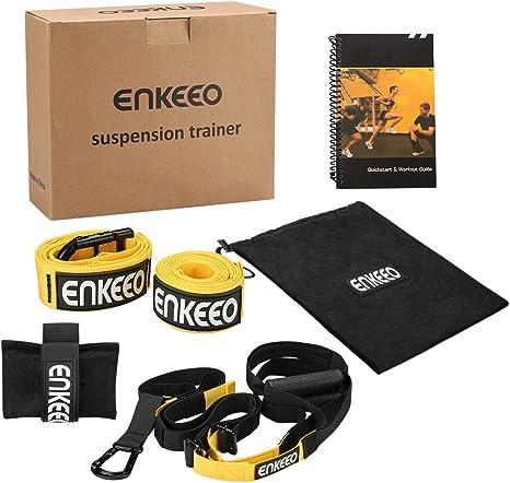 Enkeeo correa suspensión con anclaje de puerta incluido para la forma física Cross Fit entrenamientos de todo el cuerpo