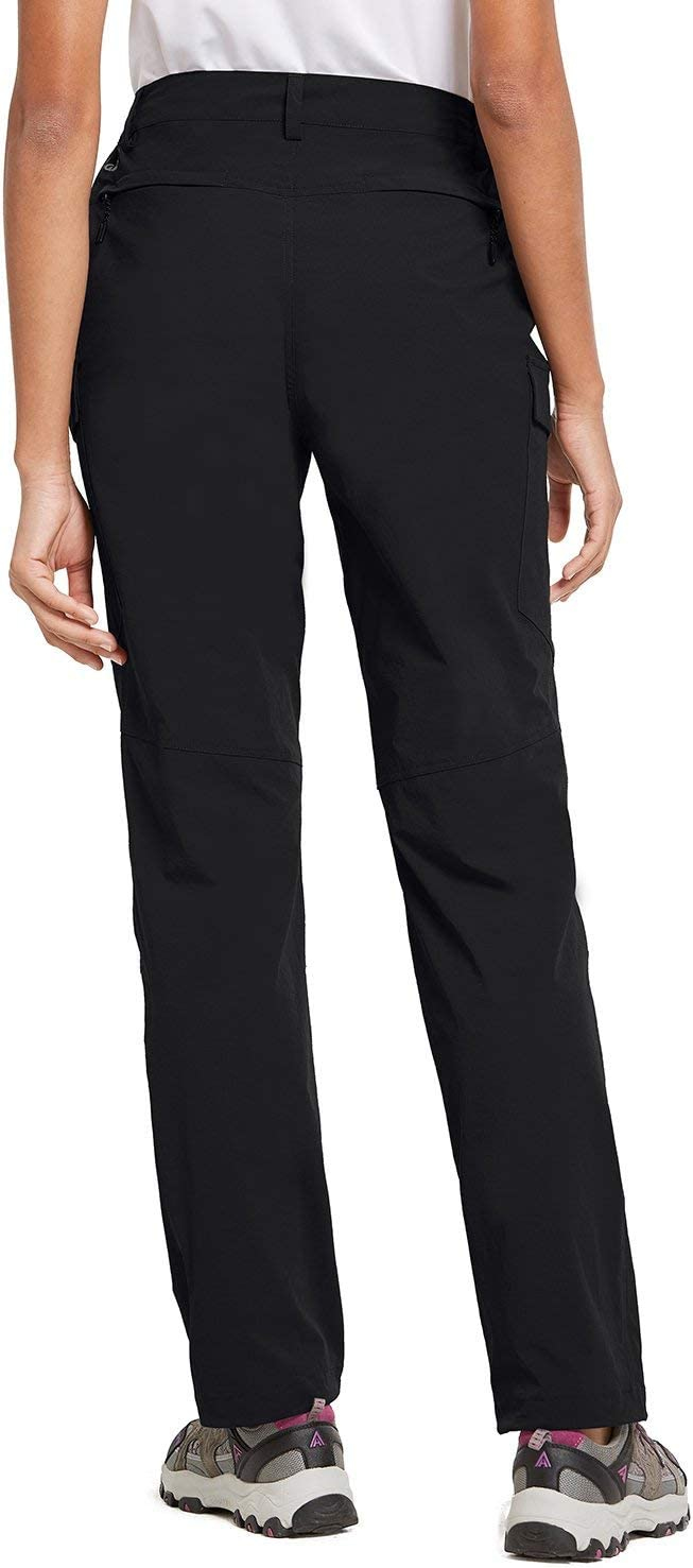 BALEAF Womens Hiking Pants UPF 50 Outdoor Athletic Stretch Pants Water Resistant Zipper Pockets