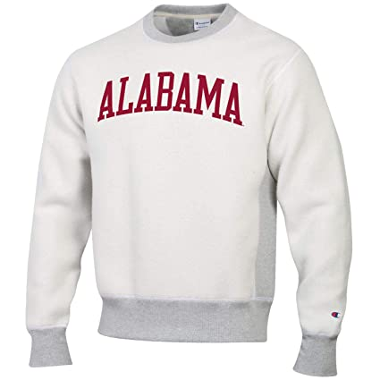 d639bfb7f Champion Men's NCAA Inside Out Reverse Weave Crew Sweatshirt-Alabama  Crimson Tide-Large