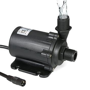 Decdeal Bluefish DC 24V Bomba de Agua sin Escobillas,Mini Bomba Sumergible,para Acuario Pecera y Sistemas Hidropónicos,1500 l/h 91.2W: Amazon.es: Hogar