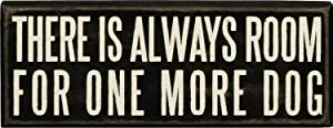 Primitives by Kathy Classic Box Sign, 3 x 8-Inches, One More Dog