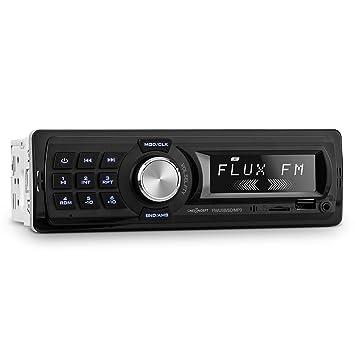 oneConcept MD-400 RDS Radio para Coche (Autoradio 4x25W, Puerto USB, microSD