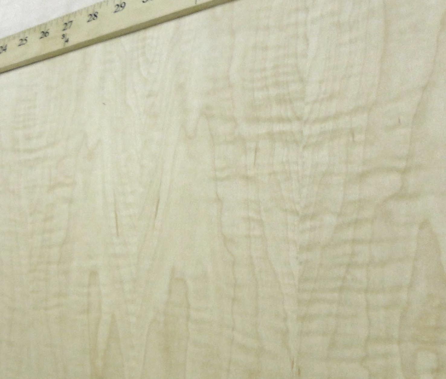 Curly Figured Tiger Maple wood veneer 24'' x 96'' with PSA adhesive ''AA'' grade