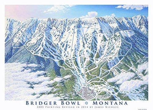 Wall Art Print entitled Bridger Bowl Montana by James Niehues   22 x 16 (Bridger Bowl)