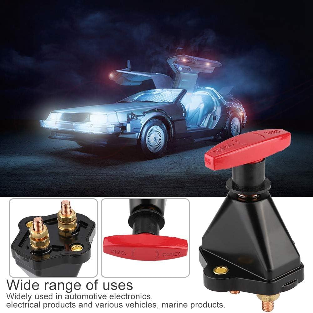 Fydun Batterie Isolator Schalter Hochleistungsauto Ein//Aus-Autobatterie Isolator Schalter f/ür Auto Marine LKW Mobilelektronik Fahrzeuge