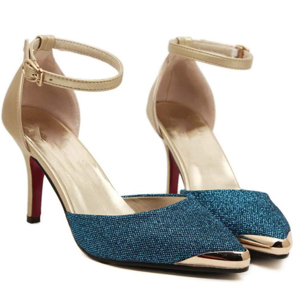 TZQ damen Stiletto Mid Mid Mid Heels Spitz Damen Party Office Court Schuhe Pumps 6baab2