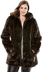 d2b2b4e5b77 Roamans Women s Plus Size Short Faux Fur Coat