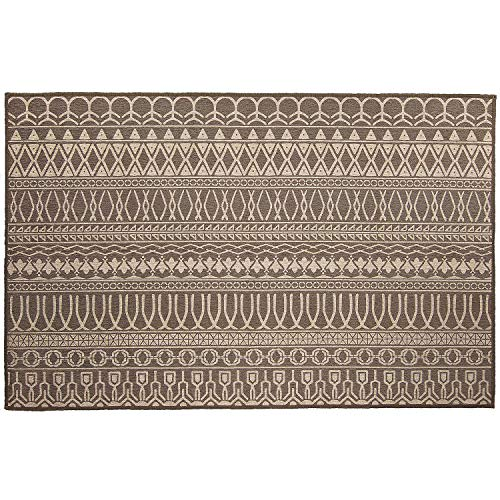 Espresso Rug - RUGGABLE Washable Stain Resistant Indoor/Outdoor, Kids, Pets, and Dog Friendly Accent Rug 3'x5' Cadiz Espresso