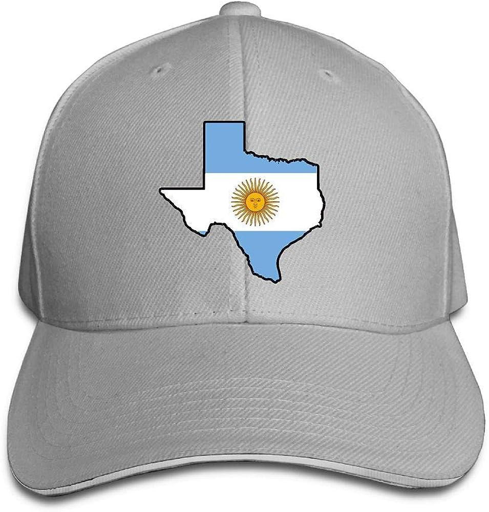 Presock Gorra De Béisbol,Gorro/Gorra Unisex Argentina Flag Texas ...