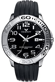 Viceroy Mens 40315-55 Black Dial Rubber Date Watch