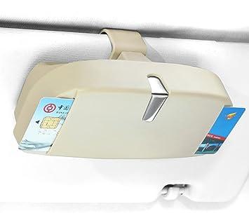 250ab811aafea5 Linligoing Car Glasses Case avec 2 fentes d insertion de cartes, visière  automobile multifonction