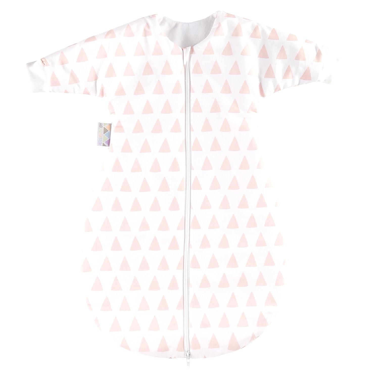 Zöllner Jersey Winterschlafsack mit Arm gefüttert Gr. 98 Triangel Pink