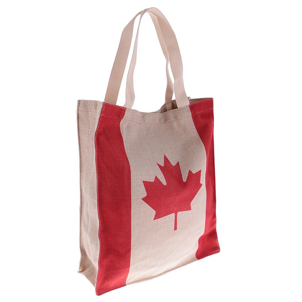 MagiDeal Borsa della Spesa Riutilizzabile Cotton Shopping Bag Reusable Bandiera Canada America Francia UK - America 79a5f5dc75deca37ac587c2022175cd9