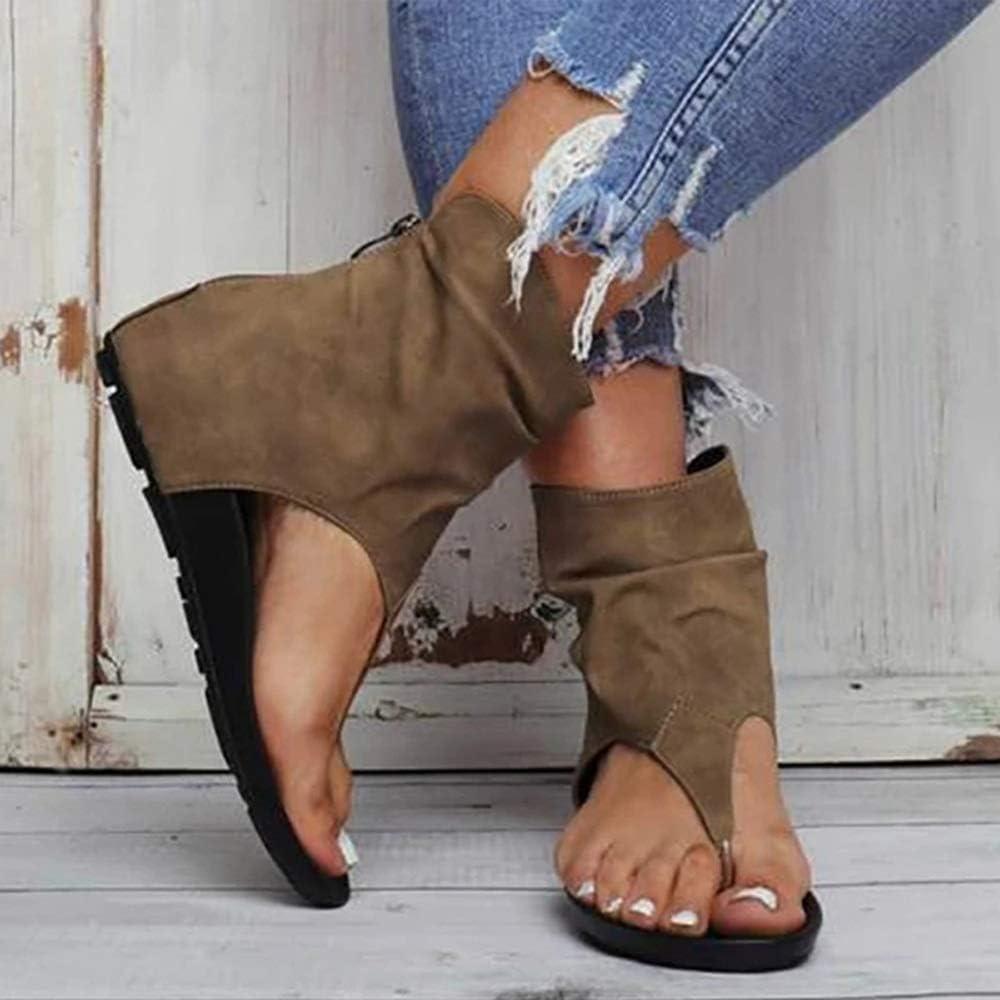 COCNI Neue Damen Sandalen Klippzehe Flache Frauen Plattform