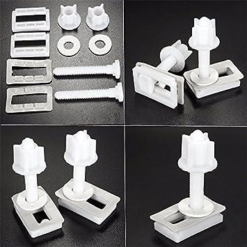 Toilet Seat Hinge Bolts Replacement Fixing Fitting Bolt Screws Kits Repair Set