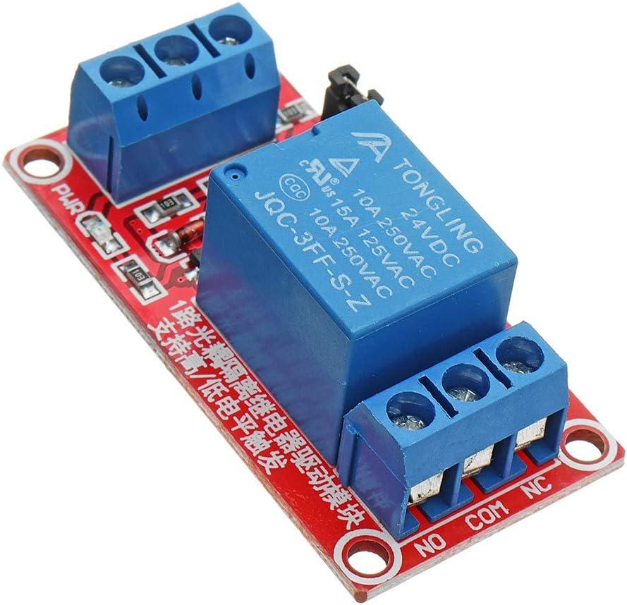 ILS – 24 V 1 Nivel Canal Trigger módulo acoplador óptico relé para Arduino