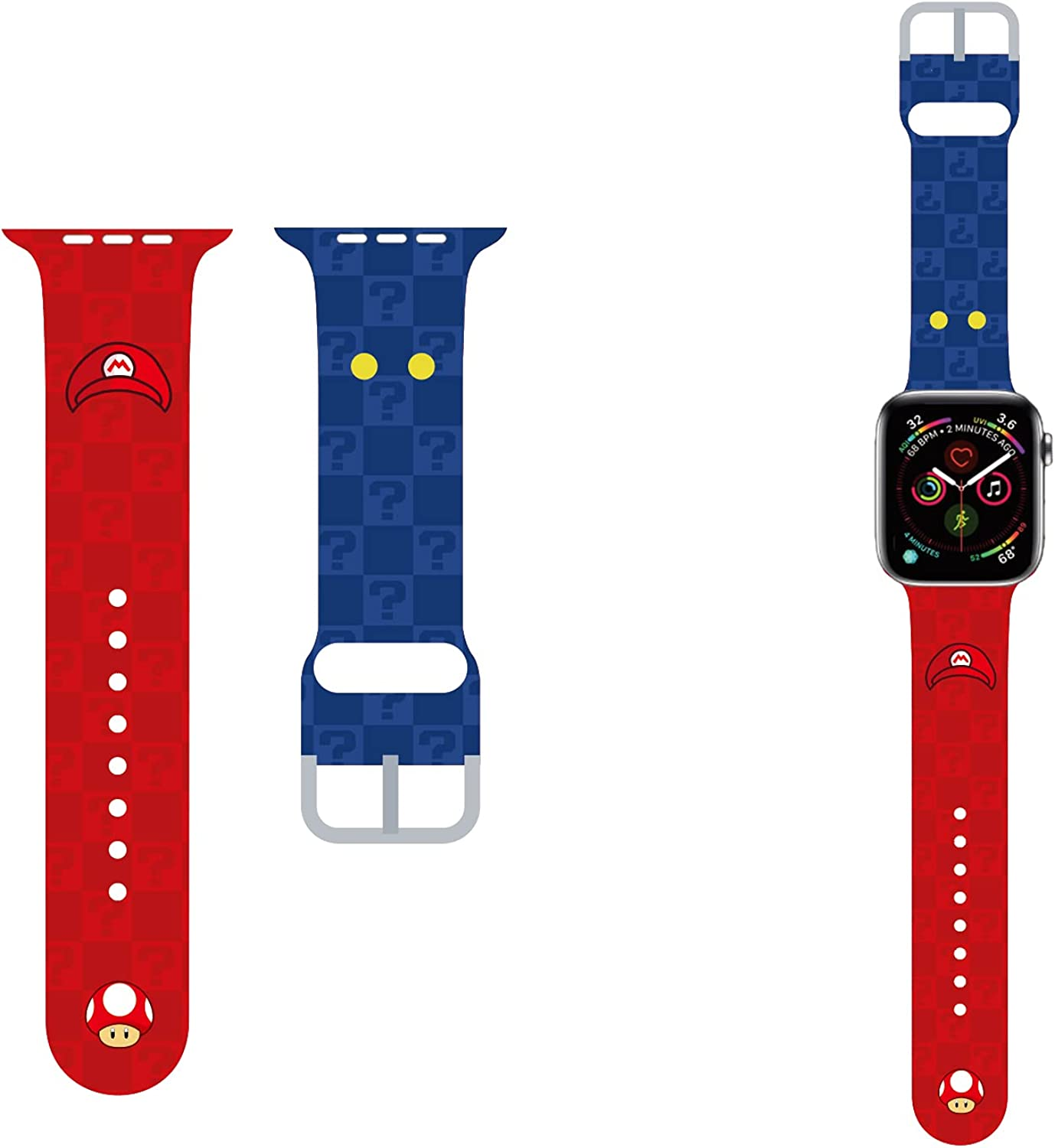 MoimTech Anime Cute apple watch Band compatible with Apple watch 40mm 38mm 44mm 42mm,Sport Silicone Designer Apple watch bands for iWatch Series SE/6/5/4/3/2/1 for Kids Women Men