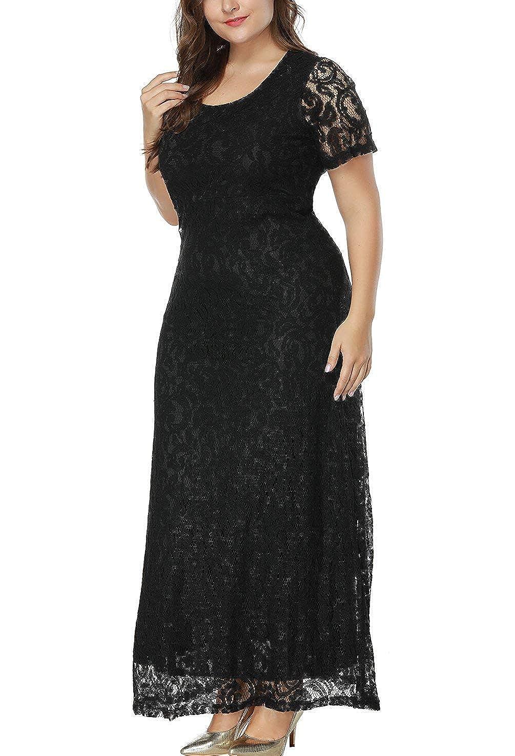 Erosebridal Women Plus Size Prom Dresses Floral Lace Mother of The Bride  Evening Gown