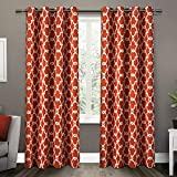 Cheap Exclusive Home Gates Sateen Blackout Thermal Grommet Top Curtain Panel Pair, Mecca Orange, 52×84, 2 Piece