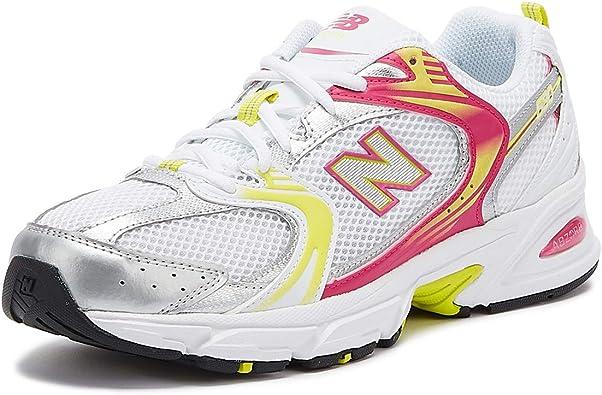 New Balance 530 Mujer Blanco/Rosa/Amarillo Zapatillas