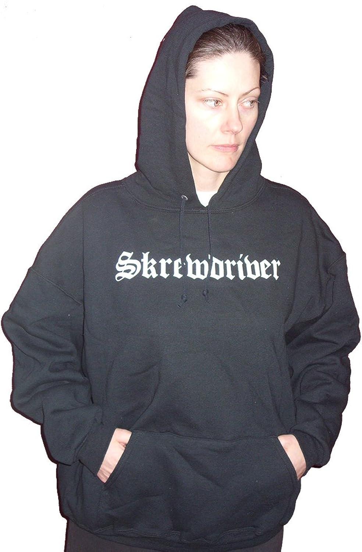durable modeling Skrewdriver Old School Eagle Logo Hooded USA Factory Printed Sweatshirt