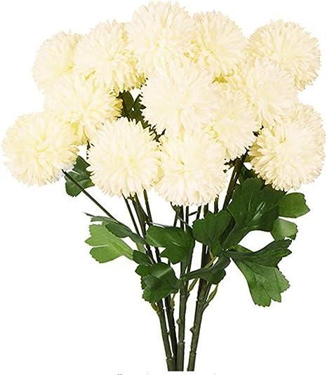 Fake Silk hydrangea Floral Flower Bouquet Wedding Party Decor Artificial YI