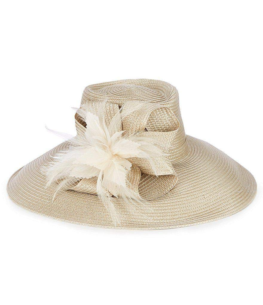AUGUST HAT COMPANY Aquamarine Large Romantic Profile Hat (Nude)