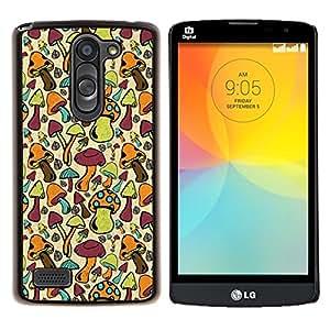 YiPhone /// Prima de resorte delgada de la cubierta del caso de Shell Armor - Setas colorido Bosque Fondos de Arte de Alimentos - LG L Prime D337 / L Bello D337