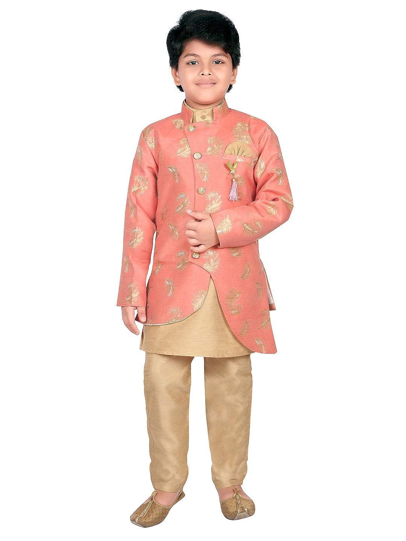 Ahhaaaa Ethnic Wear Sherwani Kurta and Pyjama Set For Kids and Boys