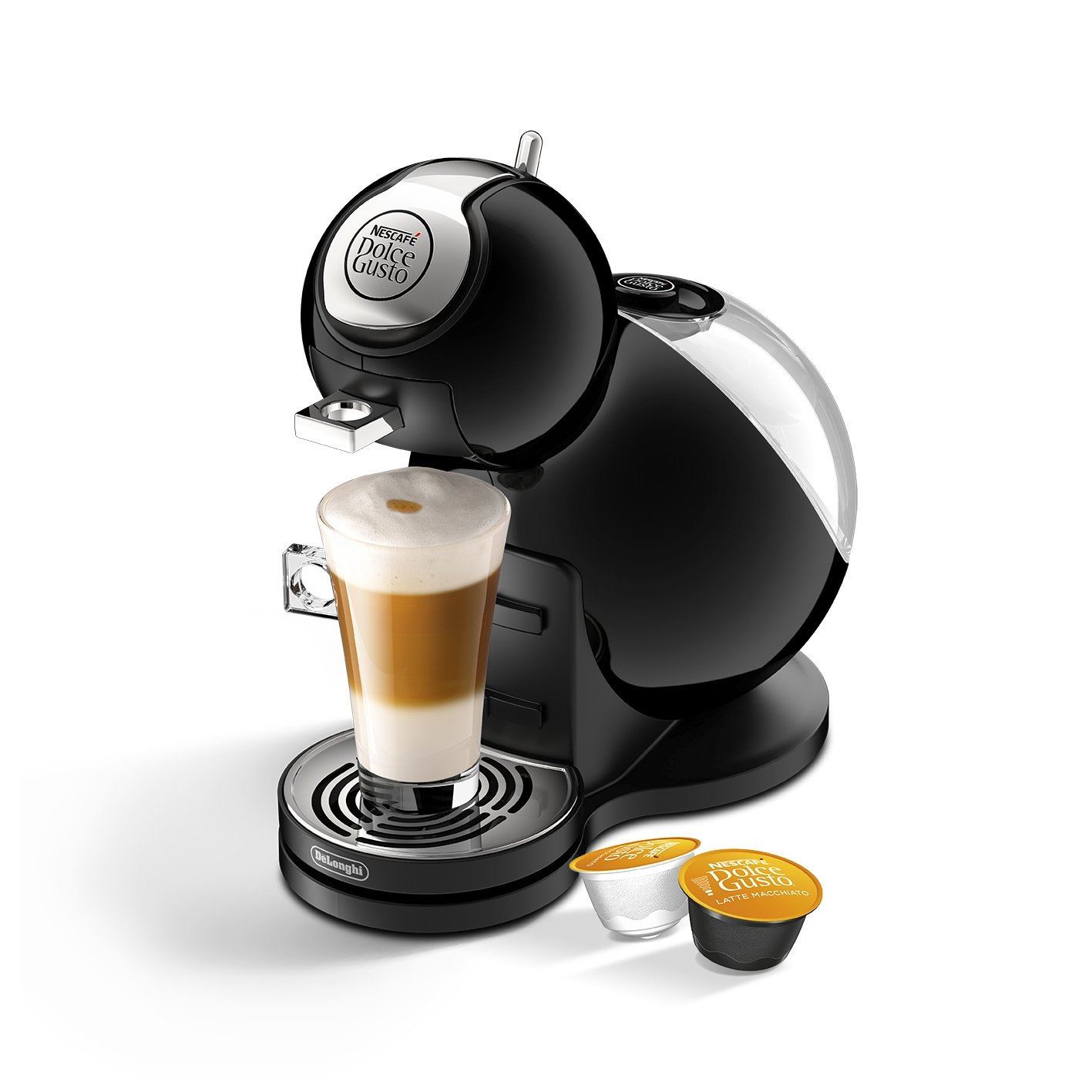 nescaf dolce gusto melody 3 coffee machine by de 39 longhi black ebay. Black Bedroom Furniture Sets. Home Design Ideas