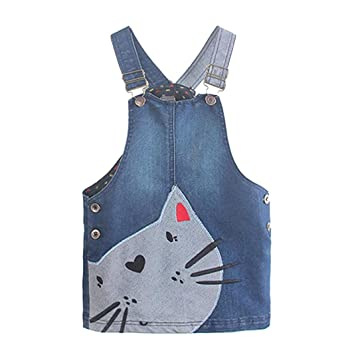 5e90abcd69 Amazon.com  Anxinke Kids Girls Cartton Sundress Skirts Denim Strap ...