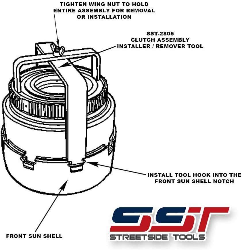 Installer E4OD 4R100 307-227 SST-2805 Ford Clutch Drum Shell Assembly Remover
