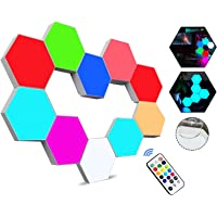 Hexagon Lights with Remote Control, Smart LED Wall Light Panels Touch-Sensitive RGB Gaming Night Lights Mood Lightning…