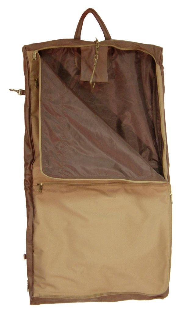AmeriLeather Leather Three-suit Garment Bag Terrazzo Brown