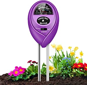 PentaBeauty Soil pH Meter, 3-in-1 Soil Tester with Moisture, Light and PH Soil Test Kit for Garden, Farm, Lawn, Indoor & Outdoor, Soil Moisture Meter