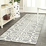 "Product review for Safavieh Cambridge Collection CAM133D Handcrafted Moroccan Geometric Silver and Ivory Premium Wool Runner (2'6"" x 8')"