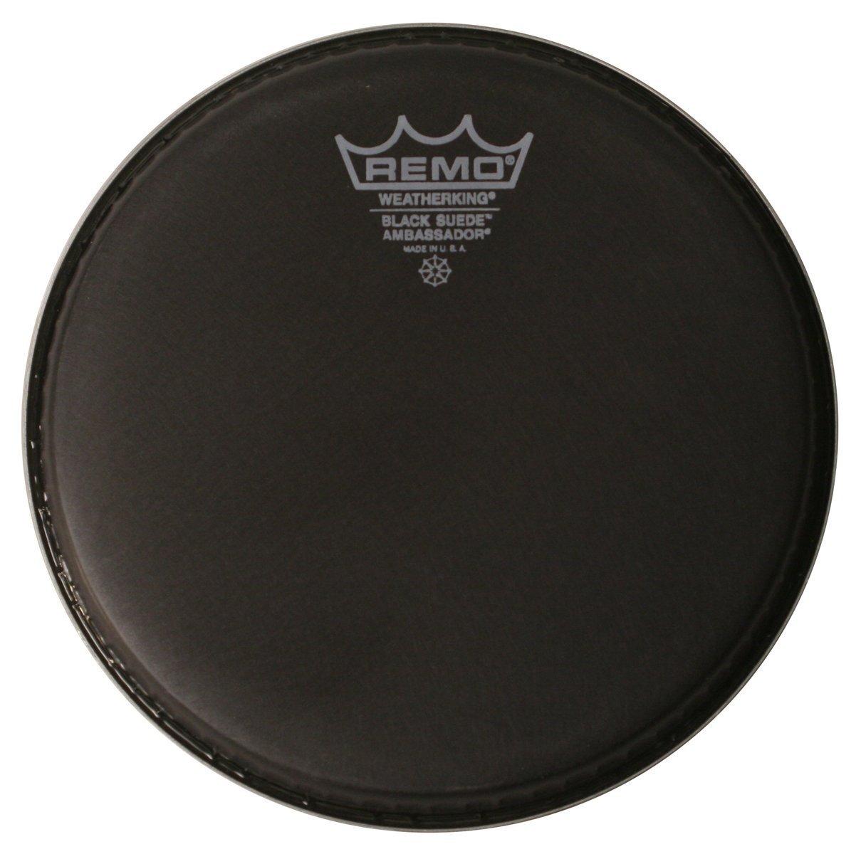Remo BA0812-ES Black Suede Ambassador Drum Head - 12-Inch by Remo