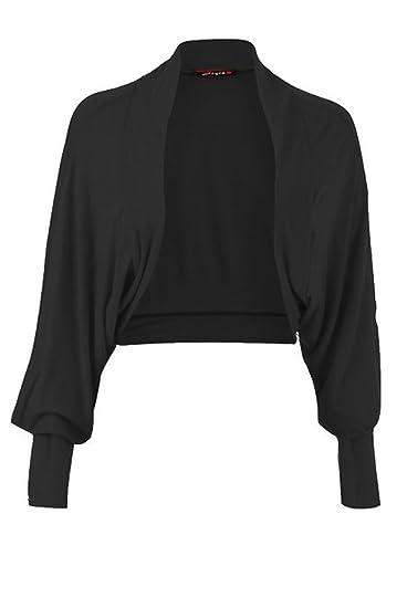 Girls Walk Women s Long Batwing Sleeves Plain Front Open Bolero ... 06f5afe57