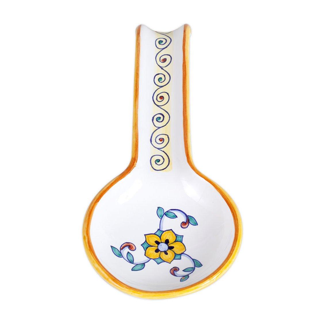 Deruta Hand Painted Primavera Ceramic Spoonrest From Italy by Deruta Primavera