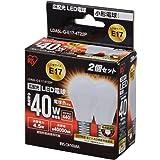 アイリスオーヤマ LED電球 口金直径17mm 40W形相当 電球色 広配光タイプ 2個セット 密閉形器具対応 LDA5L-G-E17-4T22P