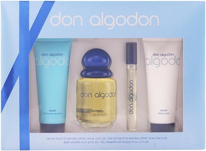 Don Algodon Set de Agua de Colonia, Agua de Colonia Mini, Gel de Ducha y Loción Corporal - 260 ml: Amazon.es: Belleza