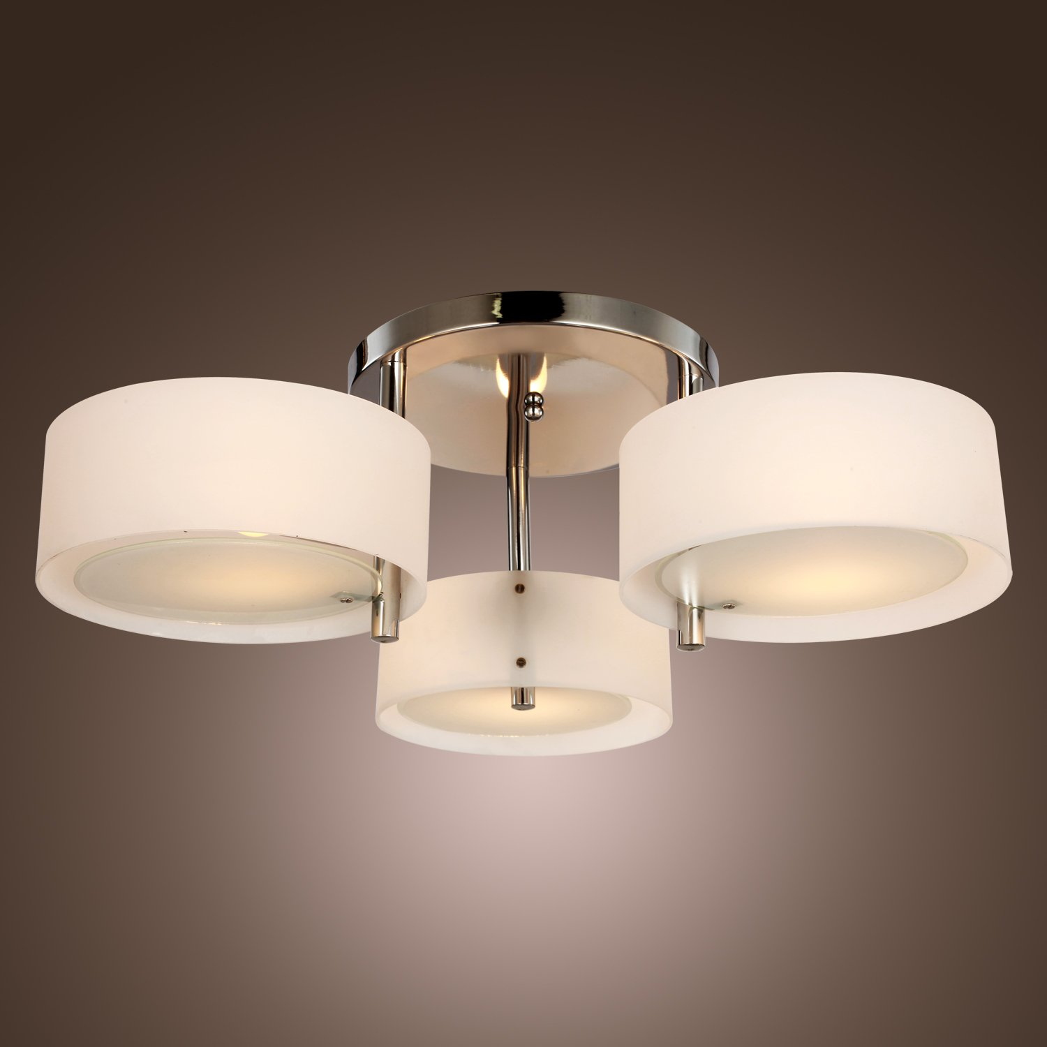 Saint Mossi® Modern Acrylic Flush Chandelier Ceiling Lights For Living Room  Bedroom With 3 Lights In Chrome Finish: Amazon.co.uk: Lighting Part 91